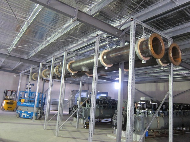 M1 Supporting The Chilled Water Pipes Nextdc