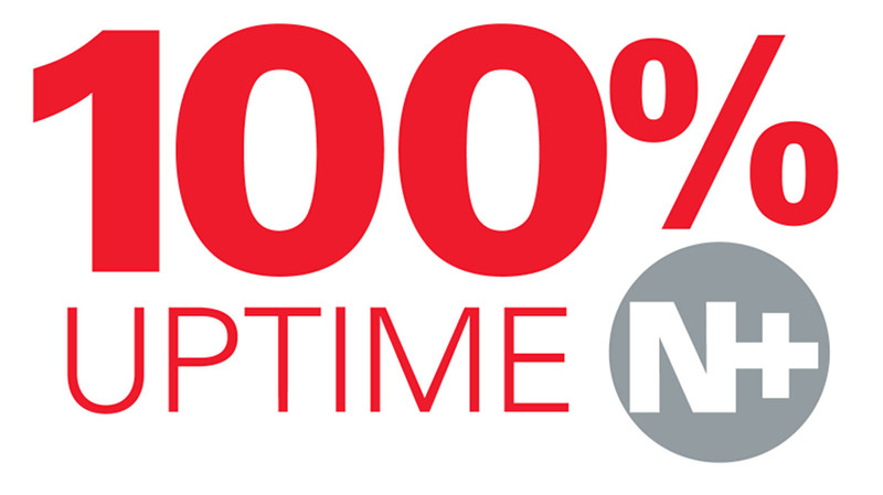 100% Uptime Guaranteed Graphic