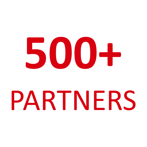 500+ partners image