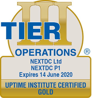 Uptime Institute certified GOLD Operations P1 2020