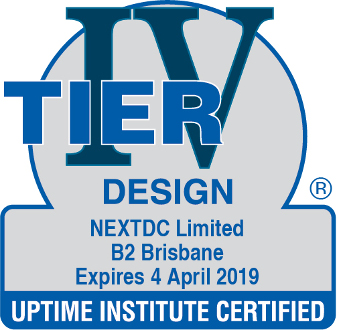Uptime Institute certified Design B2 2019