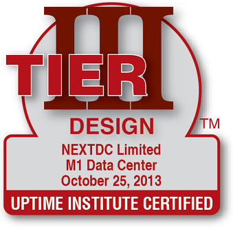 Uptime Institute certified Design M1 2013
