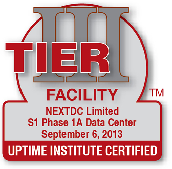 Uptime Institute certified Facility S1 2013