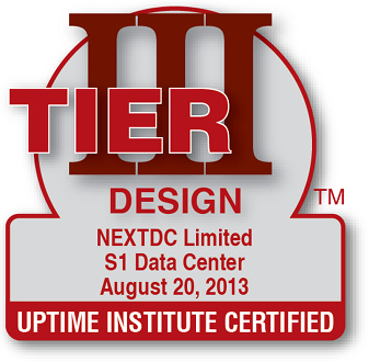 Uptime Institute certified Design S1 2013