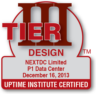 Uptime Institute certified Design P1 2013