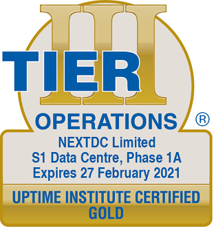 Uptime Institute certified GOLD Operations S1 2021