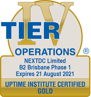Uptime Institute certified GOLD operations B2 2021