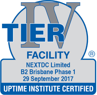 Uptime Institute certified Facility B2 2017