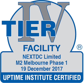 Uptime Institute certified Facility M2 2017
