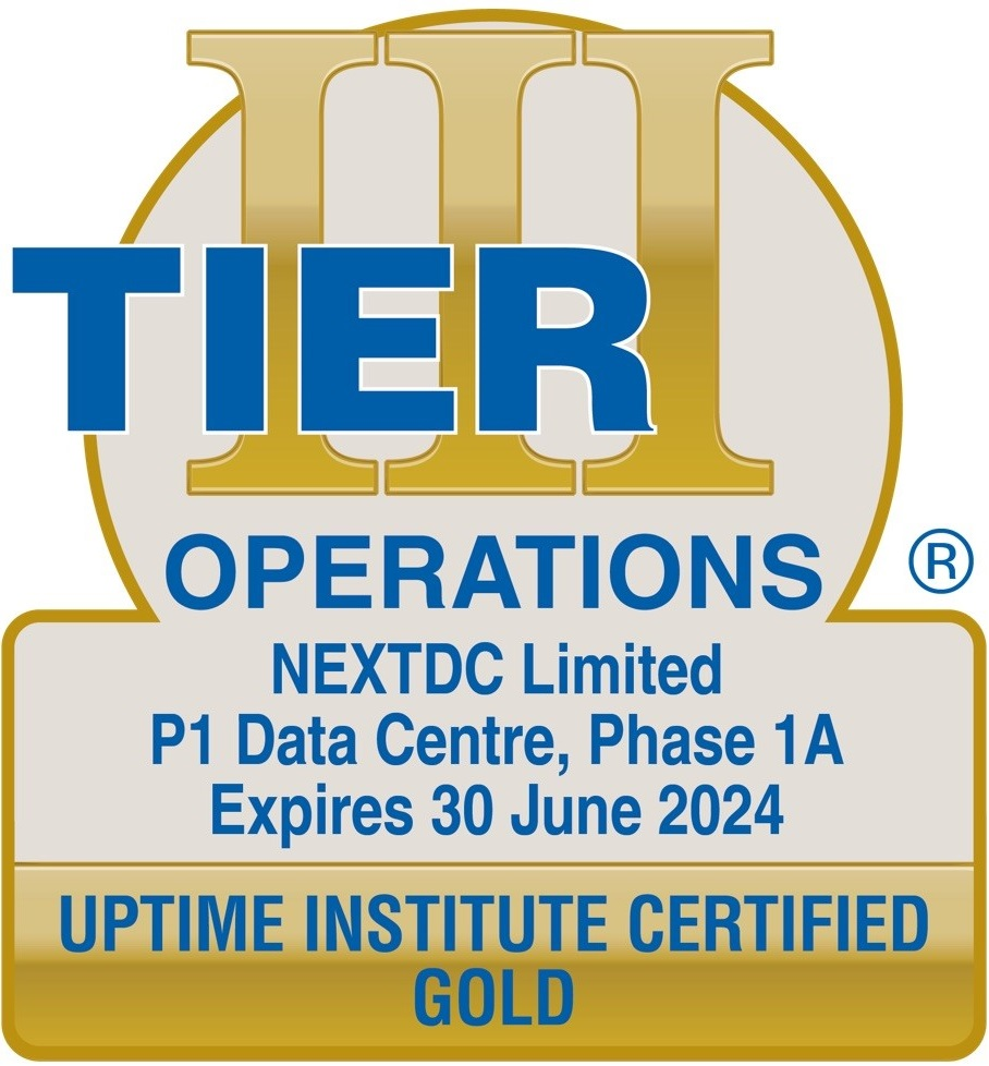 Uptime Institute certified GOLD Operations 2024
