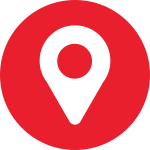 Red map marker icon: 9 data centres, 5 capital cities